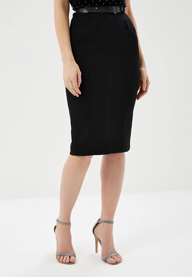 Узкая юбка Karen Millen SC009_BLACK_SS18
