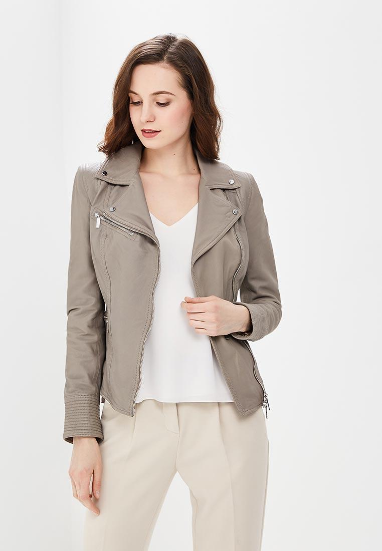 Кожаная куртка Karen Millen (Карен Миллен) JC010_GREY_SS18