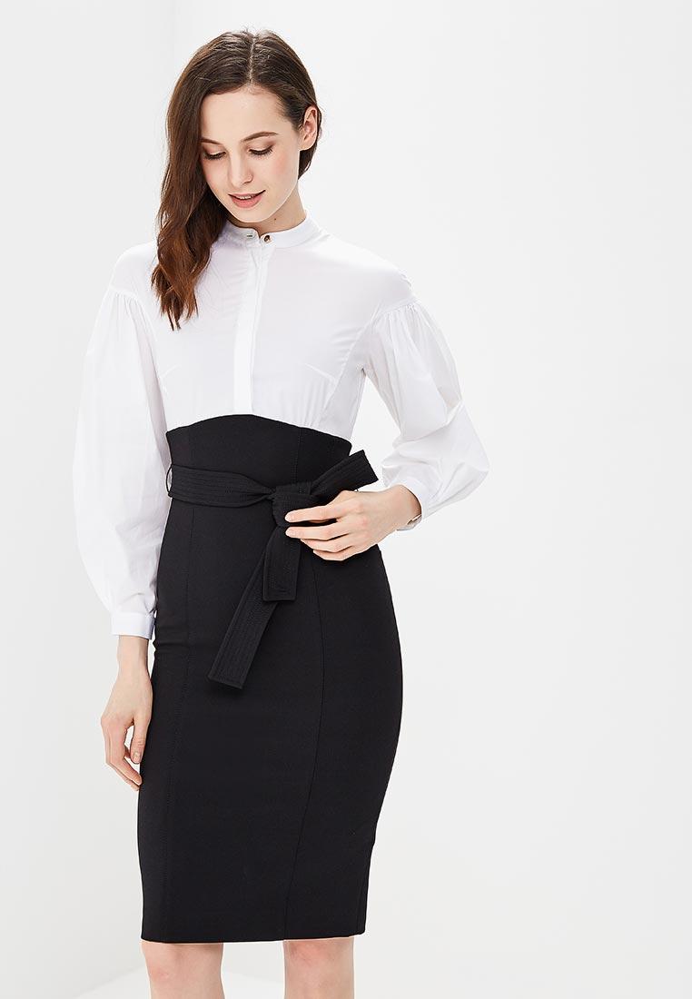 Платье Karen Millen (Карен Миллен) DC036_BLACWH_SS18