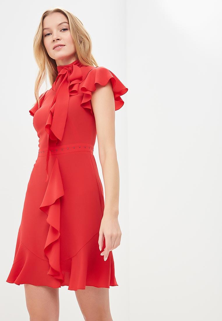 Платье Karen Millen (Карен Миллен) DC032_RED_SS18