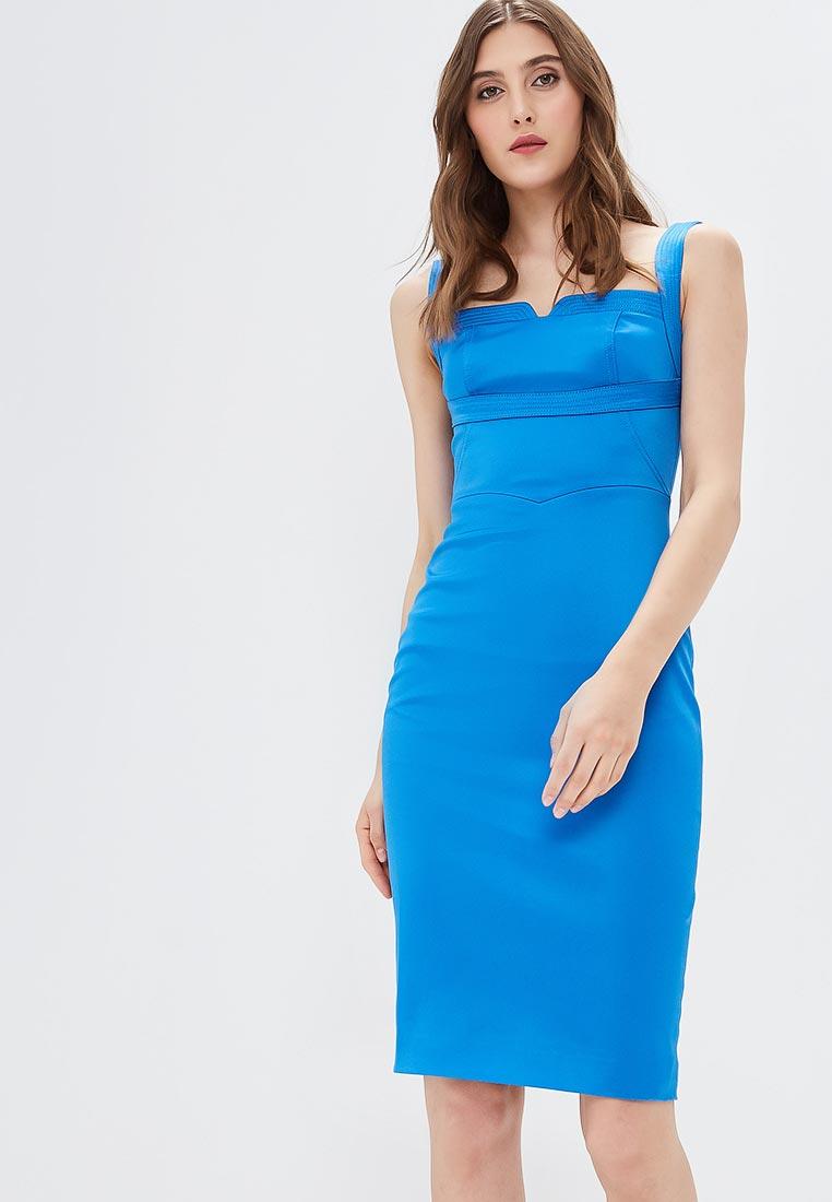 Вечернее / коктейльное платье Karen Millen (Карен Миллен) DC218_BLUE_SS18