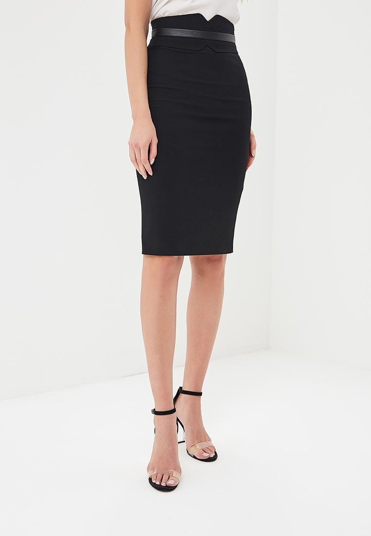 Прямая юбка Karen Millen (Карен Миллен) SC067_BLACK_SS18
