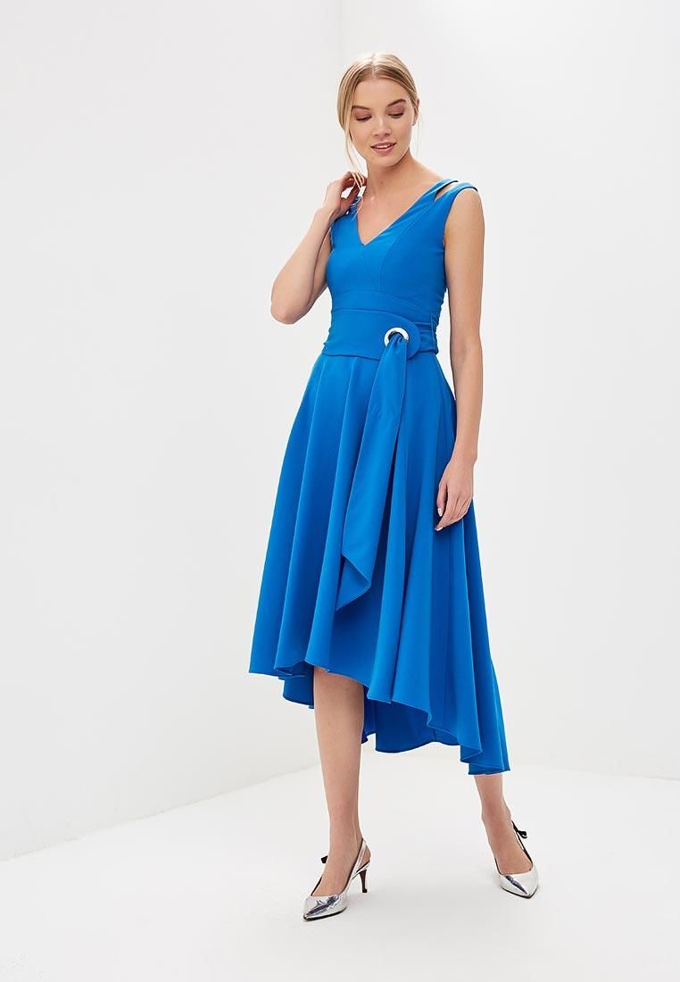 Вечернее / коктейльное платье Karen Millen (Карен Миллен) DC123_BLUE_SS18