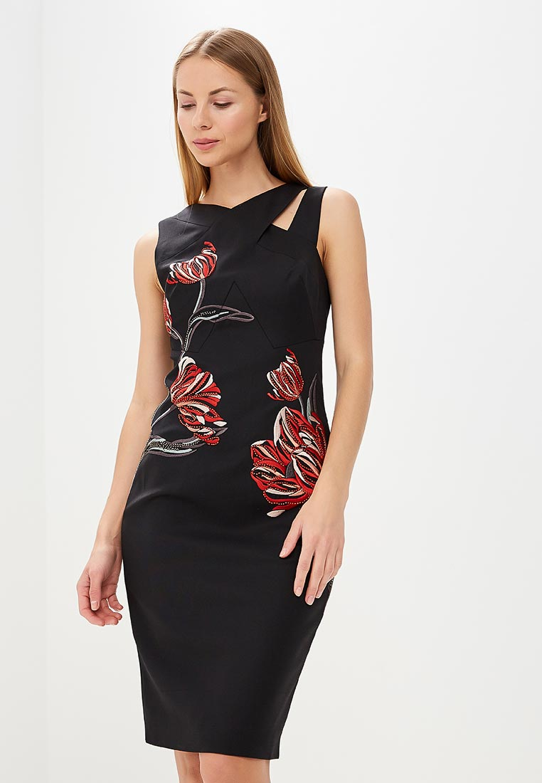 Платье Karen Millen (Карен Миллен) DC158_BLAMUL_SS18
