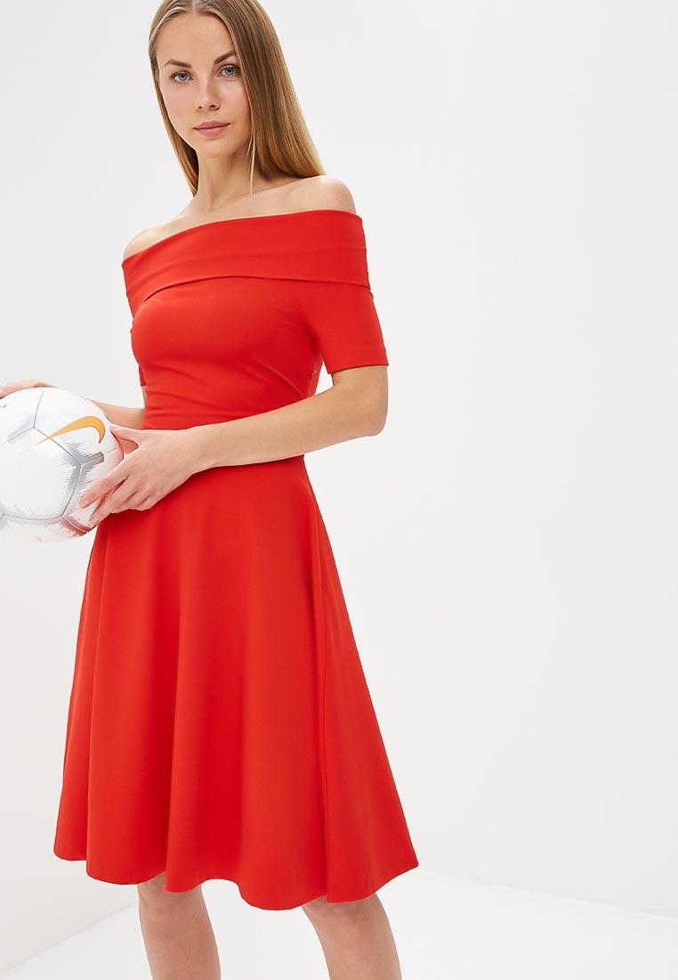 Платье Karen Millen (Карен Миллен) DC155_RED_SS18
