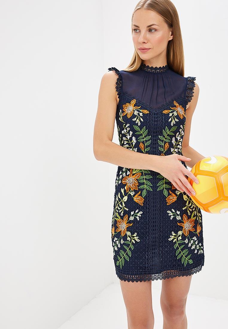 Платье Karen Millen (Карен Миллен) DC268_BLUMUL_SS18