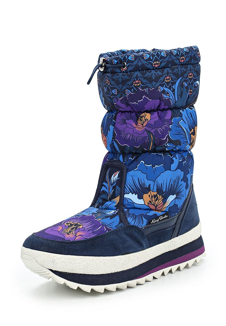 Женские дутики King Boots KB583BL