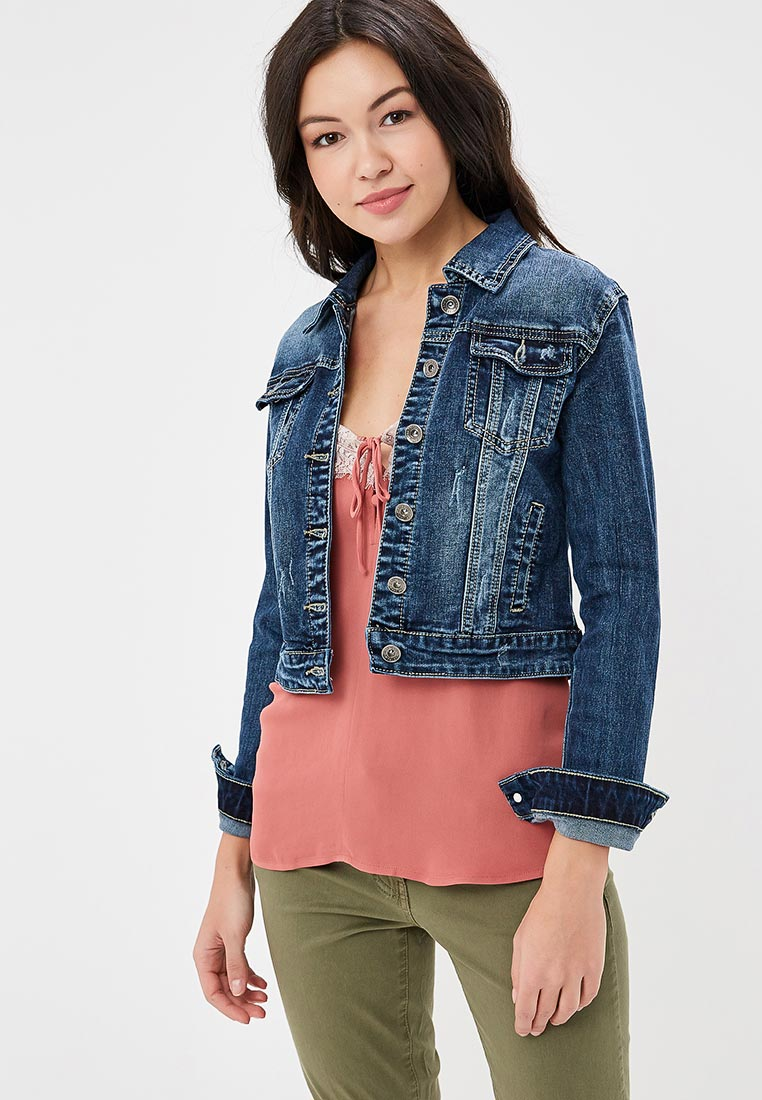 Джинсовая куртка Kiss Pink B002-AF118