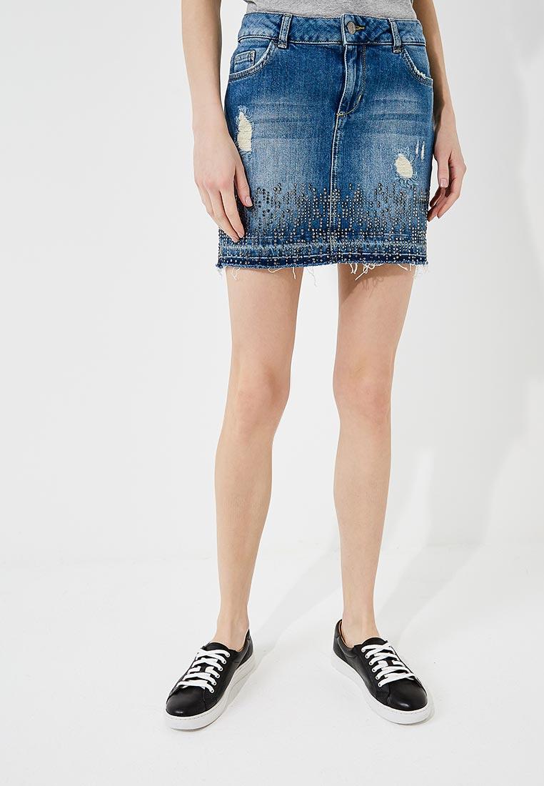 Джинсовая юбка Liu Jo (Лиу Джо) U18066 D4052