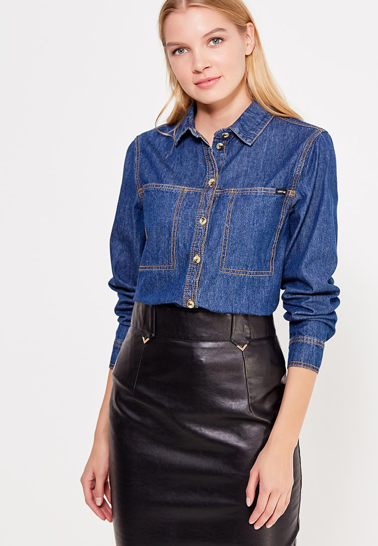 Женские джинсовые рубашки LOST INK (ЛОСТ ИНК) 601121070220021