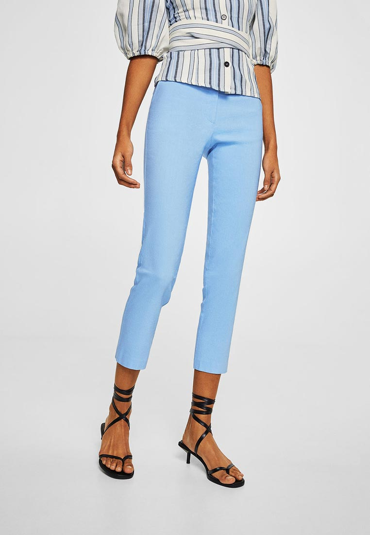 Женские зауженные брюки Mango (Манго) 23097621