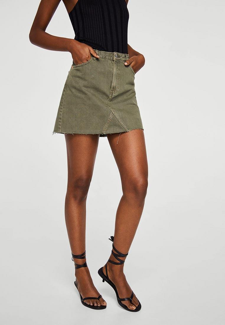 Джинсовая юбка Mango (Манго) 23087012