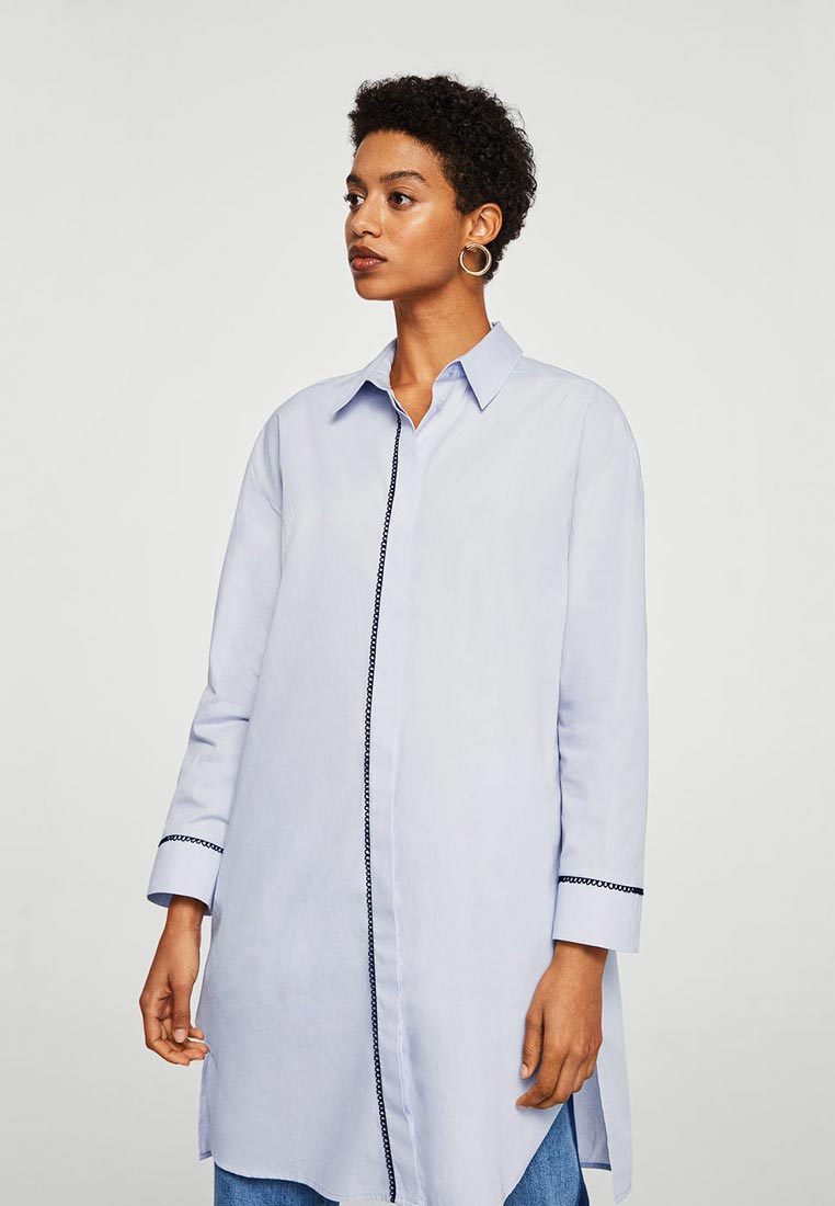 Женские рубашки с длинным рукавом Mango (Манго) 33010411