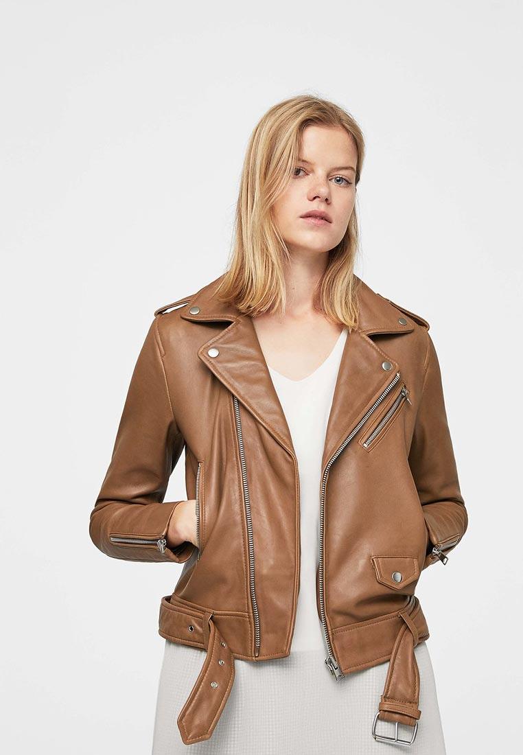 Кожаная куртка Mango (Манго) 13040395