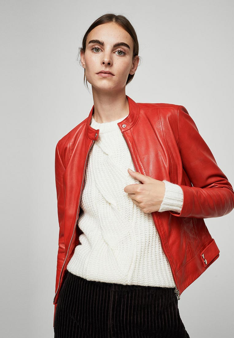 Кожаная куртка Mango (Манго) 13073645