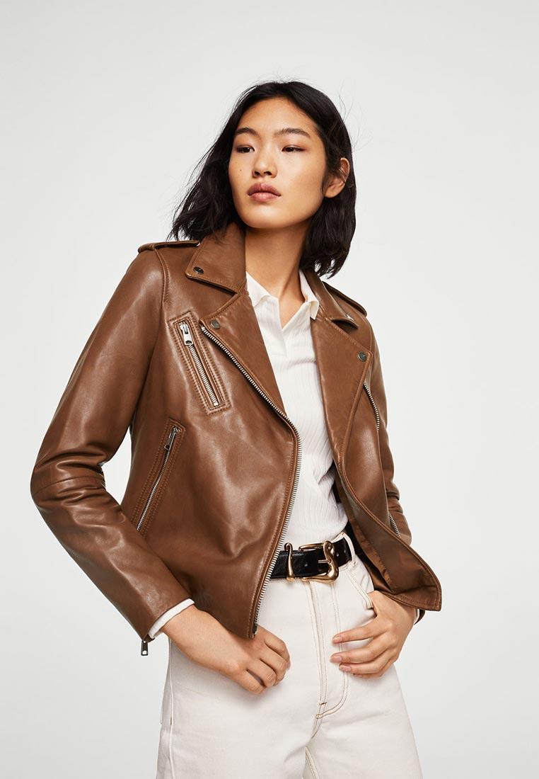 Кожаная куртка Mango (Манго) 23010596