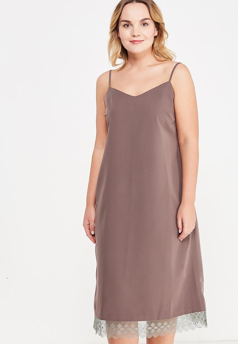 Платье-миди МаТильда MT19233Brown_Lace