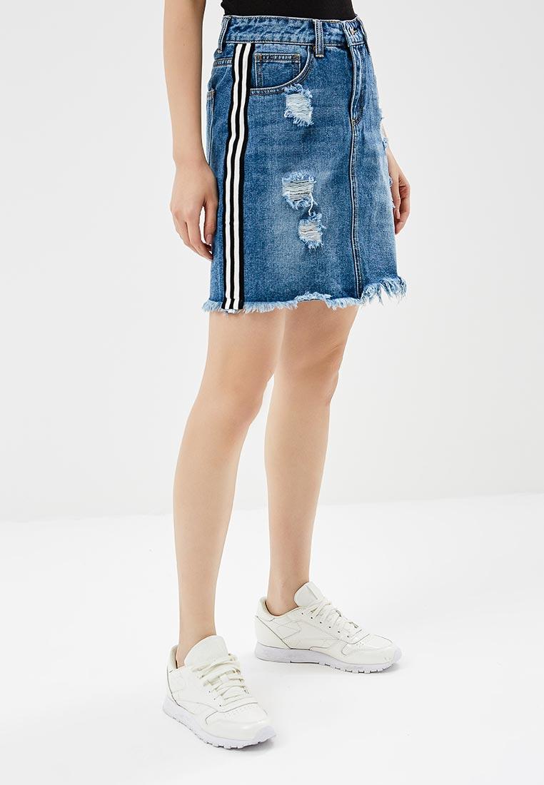 Джинсовая юбка Miss Bon Bon B001-H6903