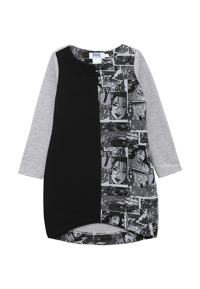 Повседневное платье iRMi 1610941-print-seriy-104