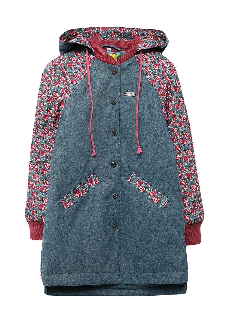 Пальто для девочек Аврора 450-D-128-blue
