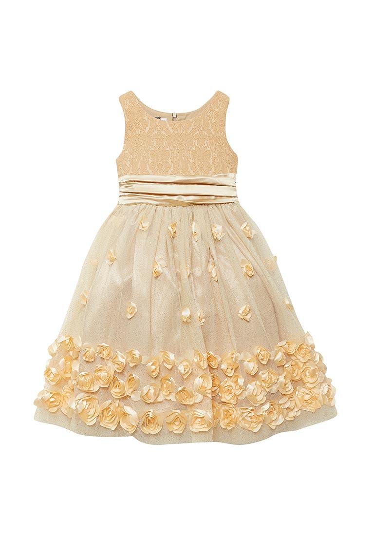 Нарядное платье Shened SH16700золото-104-110