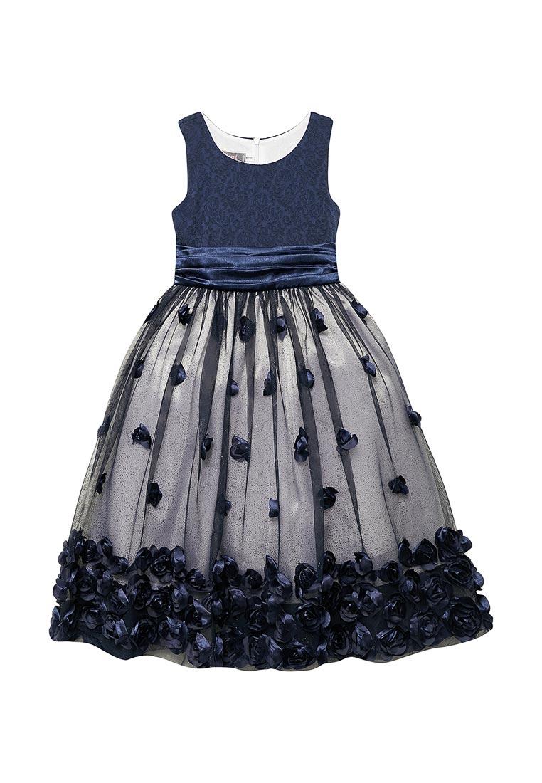Нарядное платье Shened SH16701т.синий-104-110