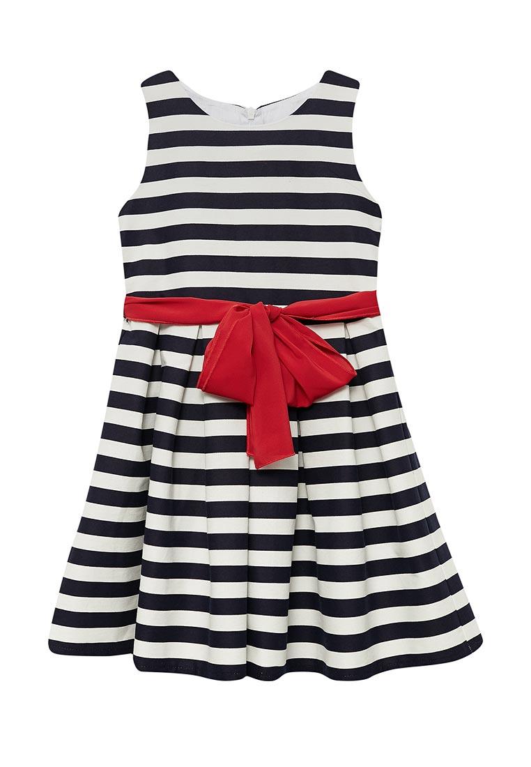 Нарядное платье Shened SH17225белый/синий-116-122