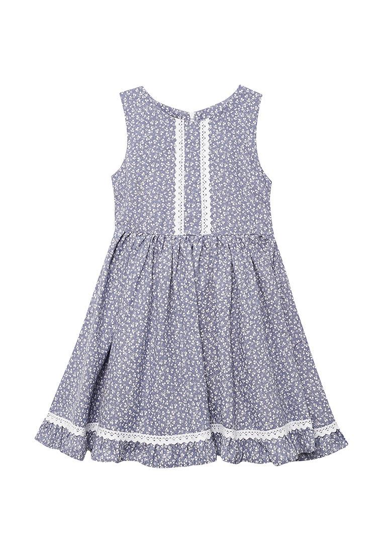Повседневное платье Shened SH17265голубой-116-122