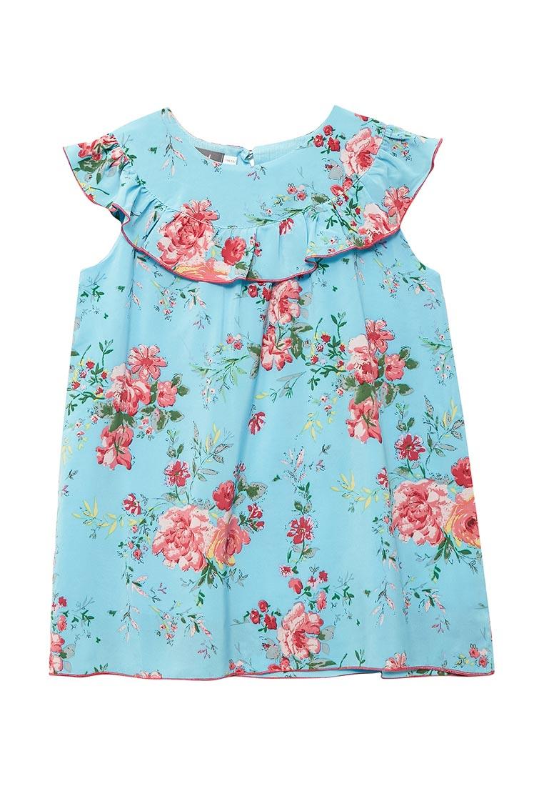 Повседневное платье Shened SH17270бирюзовый-116-122