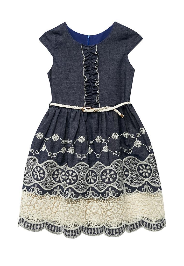 Повседневное платье Shened SH17330синий-116-122