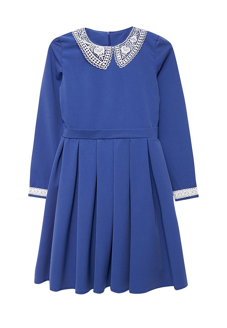 Повседневное платье Shened SH17506яр.синий-140-146