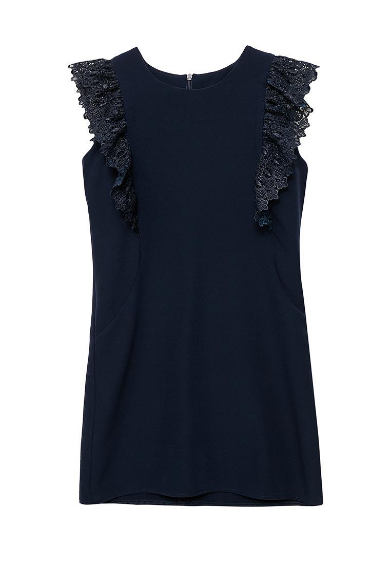 Повседневное платье Shened SH17508синий-140-146