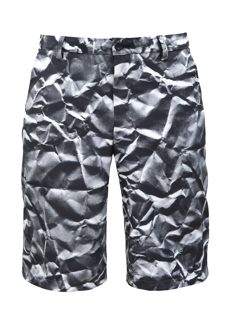 Мужские повседневные шорты Pavel Yerokin MB-06-черный/белый-44