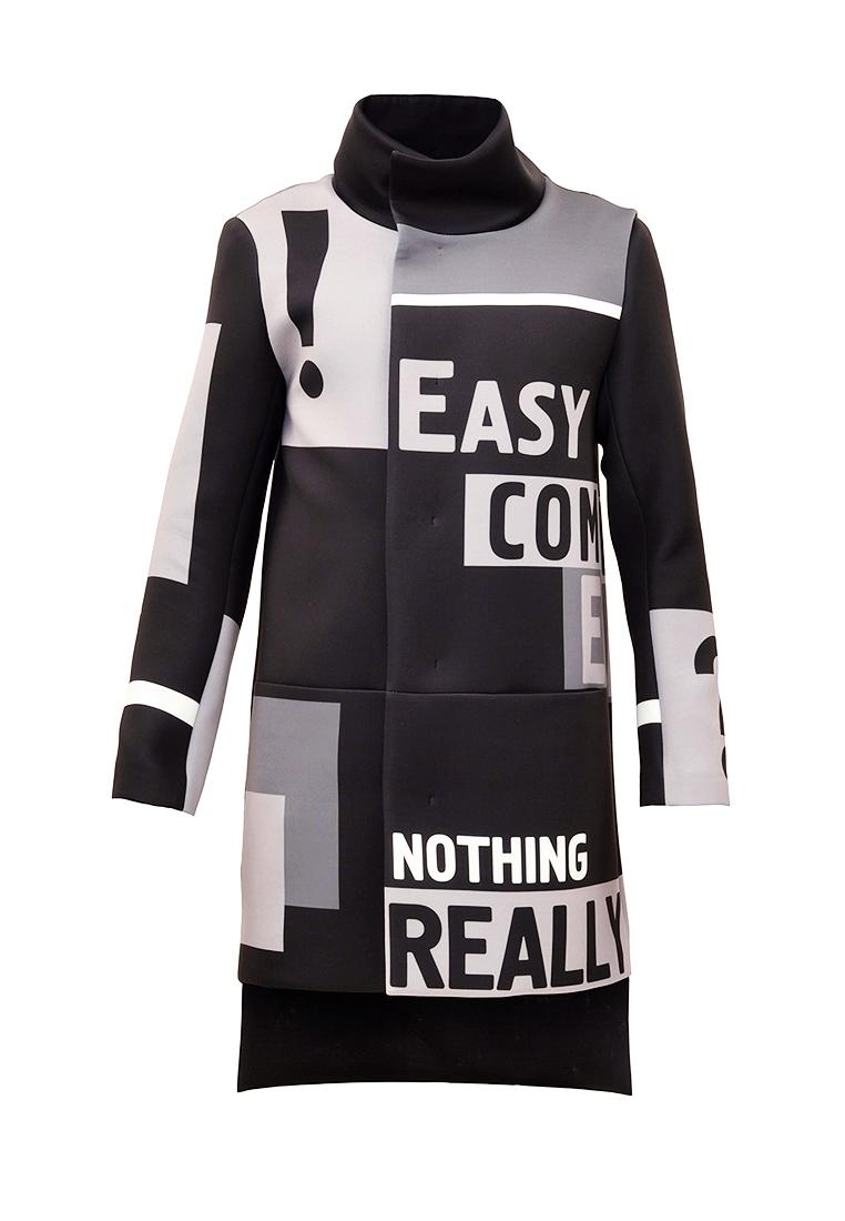 Мужские пальто Pavel Yerokin (Павел Ерохин) Q-50-черный/серый-44