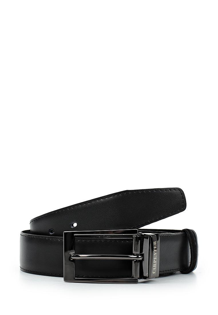 Ремень Carpenter Cr46 замша/кожа двустор. черный (105)