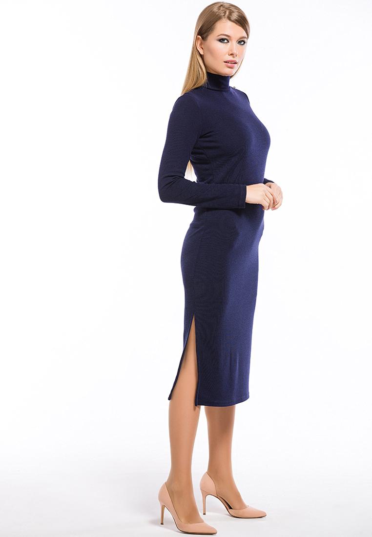 Вязаное платье Remix 7558 blue 42