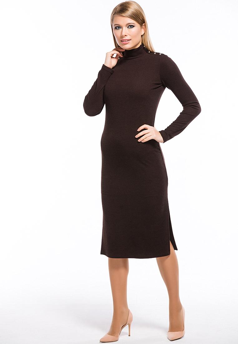 Вязаное платье Remix 7558/2 brown 42