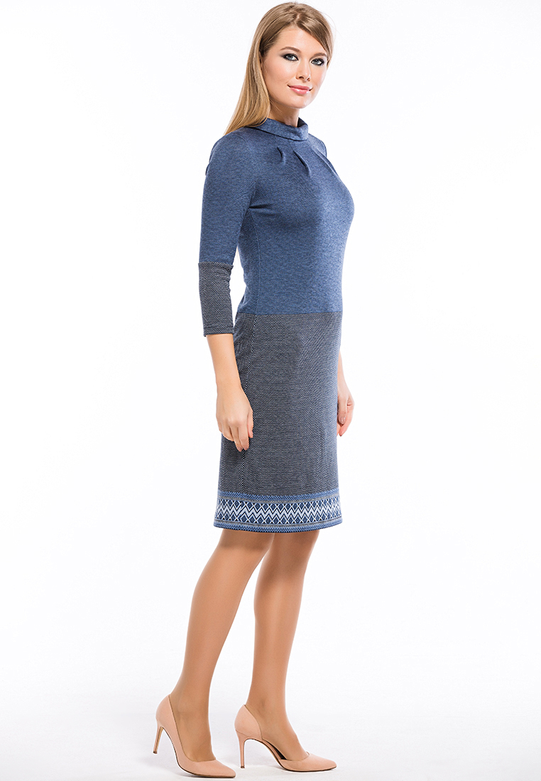 Вязаное платье Remix 7548 blue 42