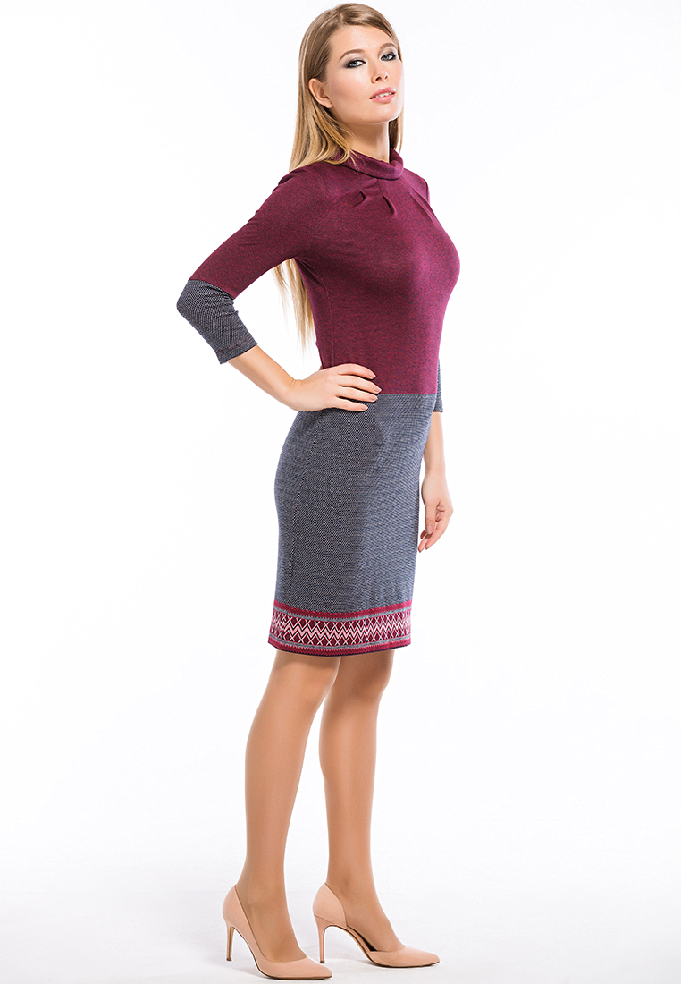 Повседневное платье Remix 7548/1 claret 42