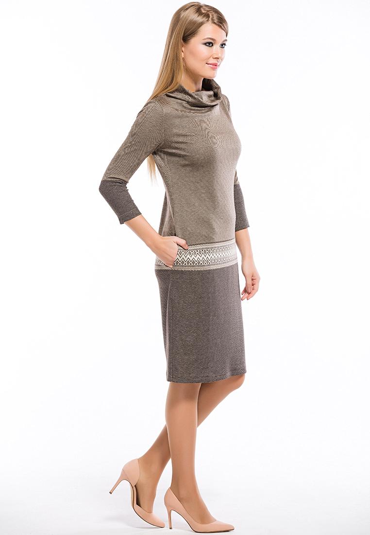 Вязаное платье Remix 7549 brown 42