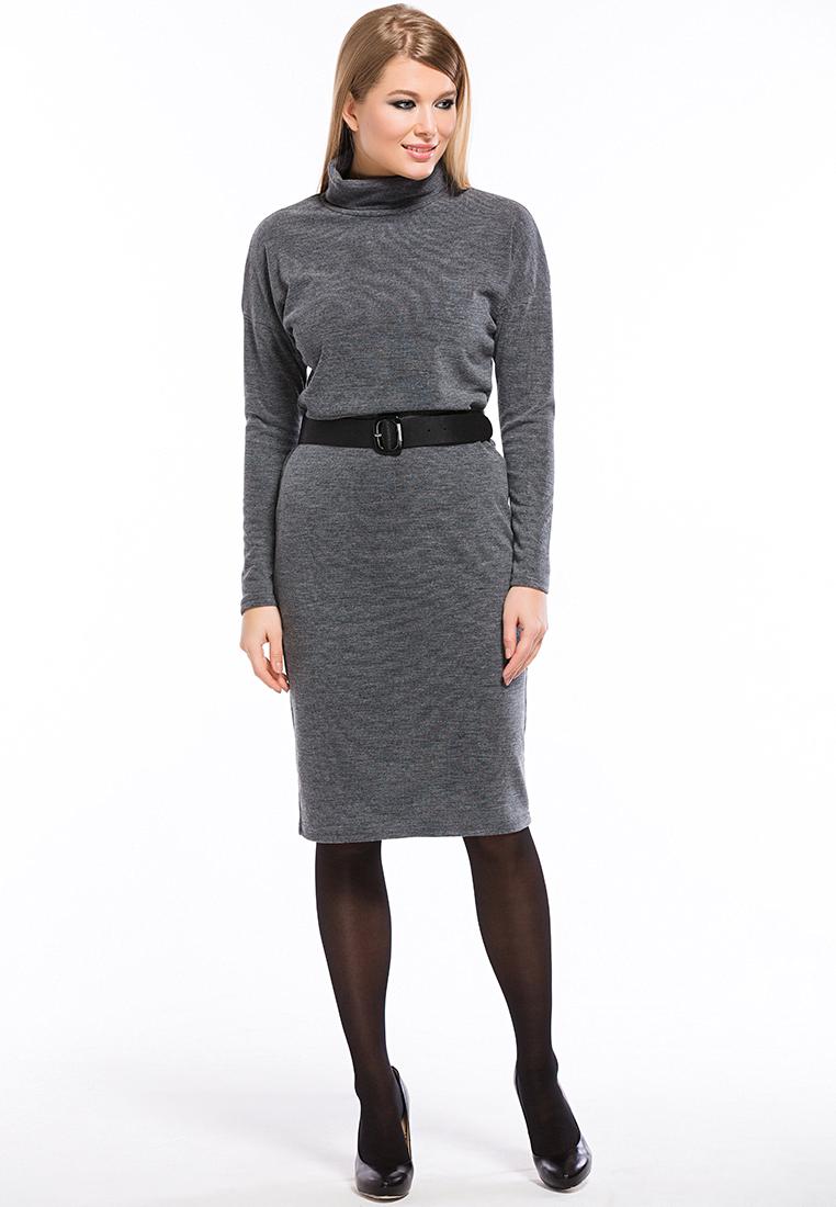 Вязаное платье Remix 7553 gray 42