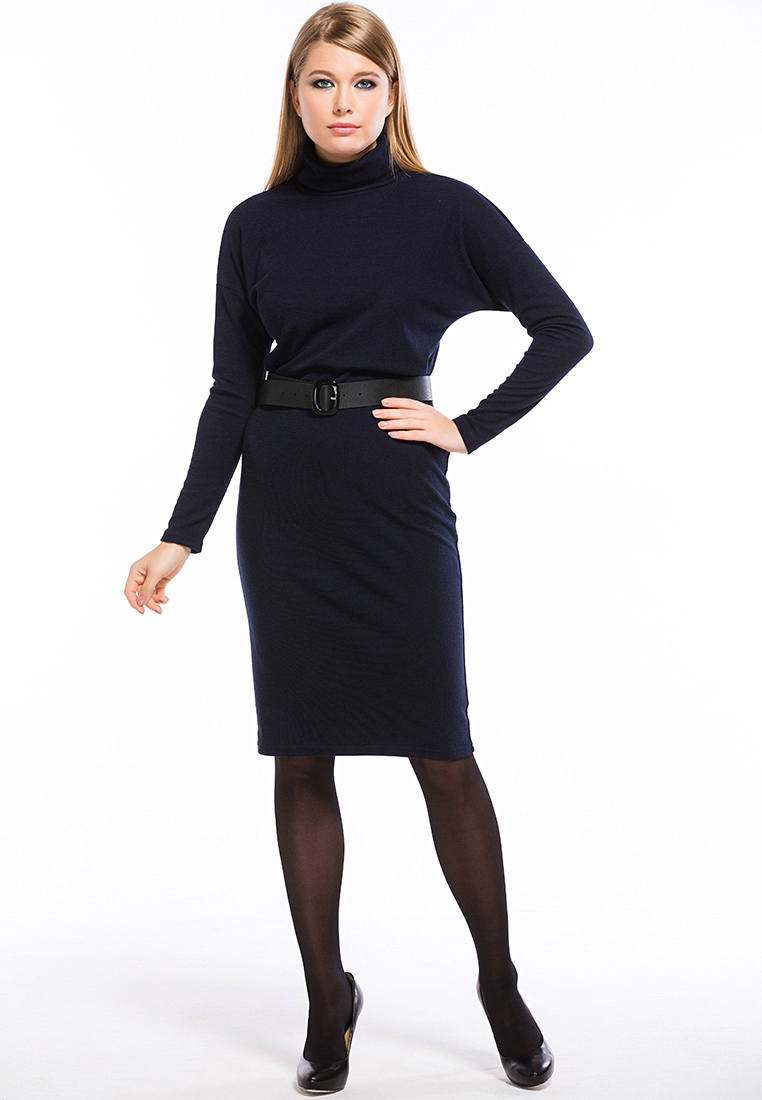 Вязаное платье Remix 7553/2 blue 42