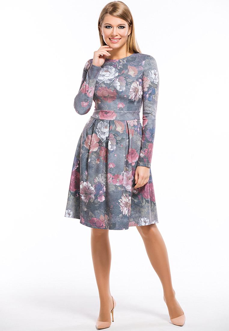 Вязаное платье Remix 7555 gray 42