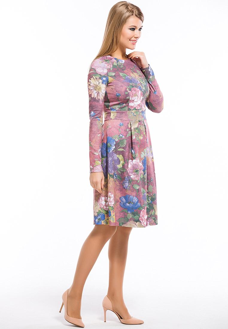 Вязаное платье Remix 7555/1 pink 42