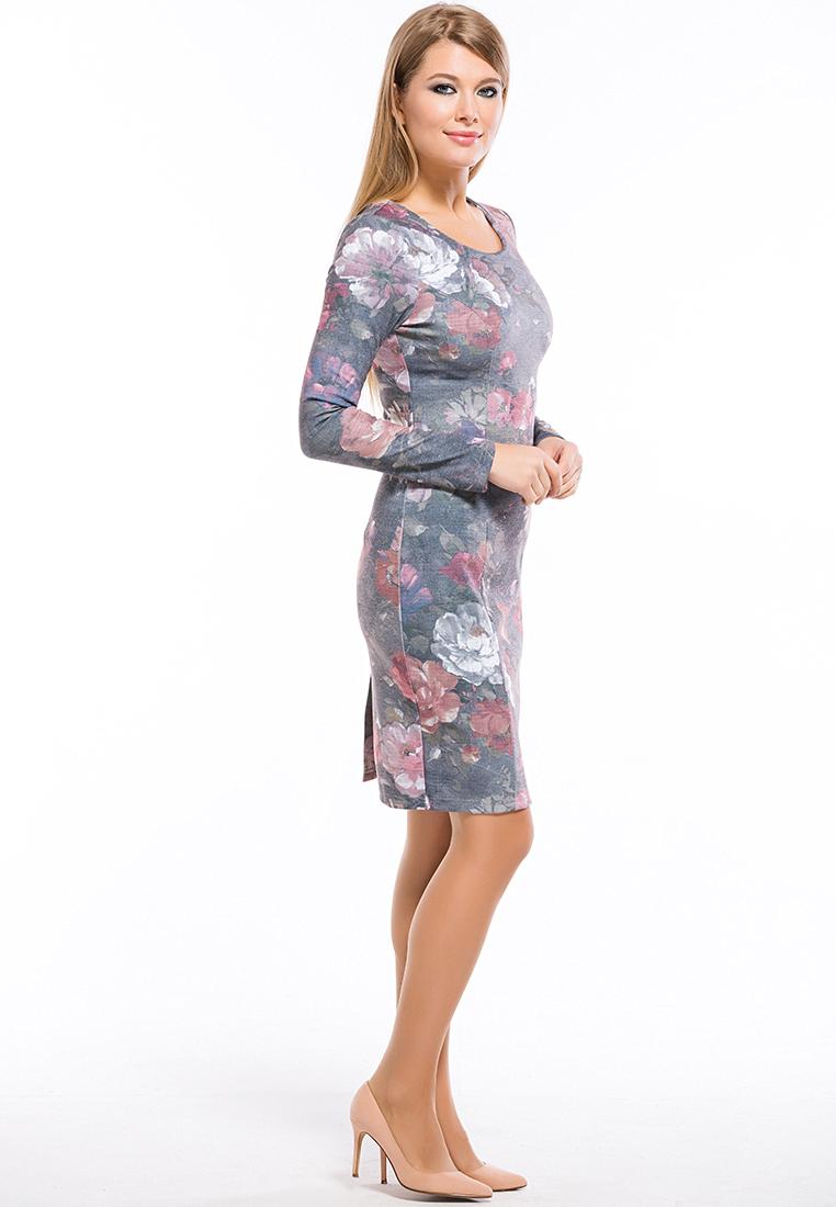 Вязаное платье Remix 7556 gray 42