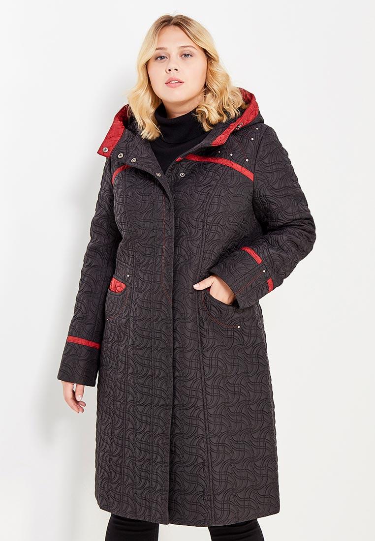 Утепленная куртка Brillare 3-814-62/29chernyj/vino-52