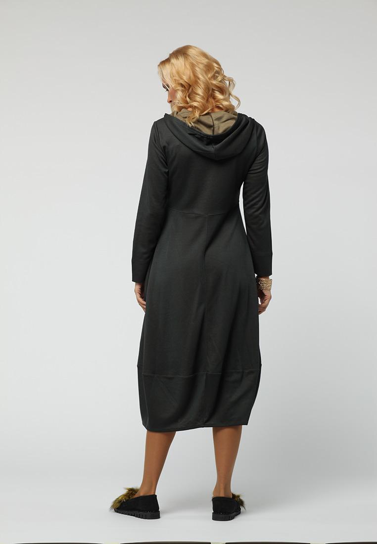 Вязаное платье KATA BINSKA OLGA1123-серо/зеленый-46