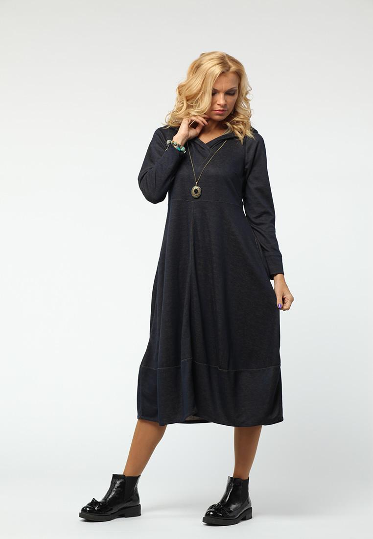 Вязаное платье Kata Binska OLGA1123-темно/синий-46