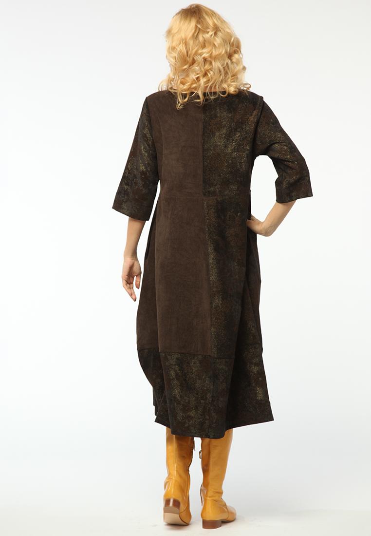 Повседневное платье KATA BINSKA LIRA1551-темно/коричневый-46-48