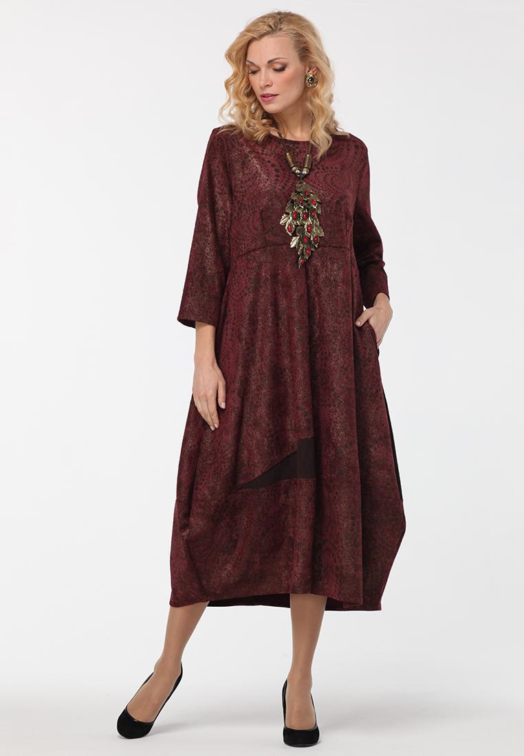 Повседневное платье KATA BINSKA LIRA1552-бордовый-46-48